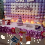 Painel de balões faço a cor desejada ,modifico  detalhes e cores para menino