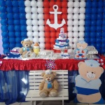 Ursinho Marinheiro Pode trocar por cortinado invés de tela de balões