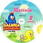 Adesivo cd personalizado: Galinha Pintadinha 1.