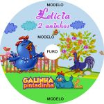 Adesivo Cd Personalizado: Galinha Pintadinha 2.
