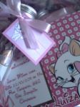 Convite no tubo gatinha marie rosa.