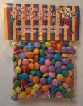 Solapas para saquinho de balas: confete, jujuba, bala de goma, coração, amendoim, etc.