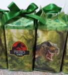 MINI Caixa Milk Jurassic Park.  5cm larg e compr x 10cm de altura.