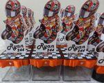 Caixinha acrílica 5cm Moto GP - Motocross  -  2,00 unid.
