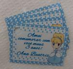 Tags para lembrancinhas Cinderela Cute