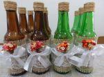 Centro de mesa garrafas decoradas. Casamento, festa Boteco, niver adulto...  7,00 a unid.
