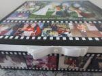 Caixa mdf 30X30X10CM, grande, com fotos na tampa e laterais, ideal para presentear no dia dos namorados, dia das mães, dia dos pais, homenagens, agradecimentos, etc.