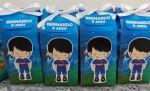 Caixa milk Champinns League.  7X15CM.
